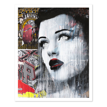 "Rone ""Look Back"" unsigned giclee print"
